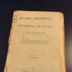 Libros antiguos: CONTABILIDAD DEL ESTADO FABREGAS DEL PILAR 1927. Lote 67050530