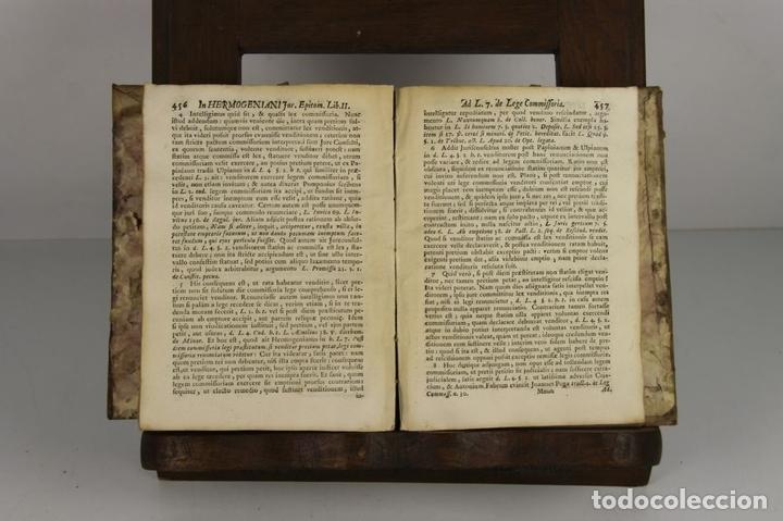 Libros antiguos: 4637. HERMOGENIANI JURIS EPITOMARUM. JOSEPHI FINESTRES ET DE MONSALVO. EDIT. ANTONIAM IBARRA. 1757. - Foto 3 - 43437912