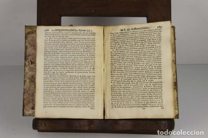 Libros antiguos: 4637. HERMOGENIANI JURIS EPITOMARUM. JOSEPHI FINESTRES ET DE MONSALVO. EDIT. ANTONIAM IBARRA. 1757. - Foto 5 - 43437912