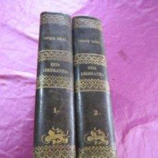 Libros antiguos: GUIA LEGISLATIVA 2 TOMOS COMPLETA AÑO 1859 MADRID JOSE INDALECIO CASO LEYES DECRETOS. Lote 68745453