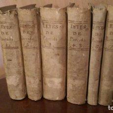 Libros antiguos: LAS SIETE PARTIDAS 1758. Lote 68772989