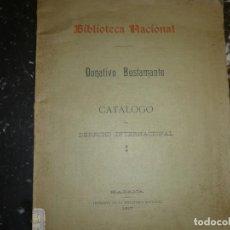 Libros antiguos: CATALOGO DERECHO INTERNACIONAL DONATIVO BUSTAMANTE 1917 HABANA. Lote 70057653