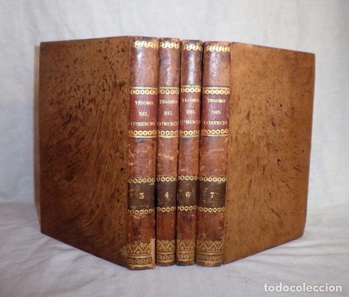 TESORO DEL COMERCIO - AÑO 1837 - COMERCIO MUNDIAL·EN PIEL. (Libros Antiguos, Raros y Curiosos - Ciencias, Manuales y Oficios - Derecho, Economía y Comercio)