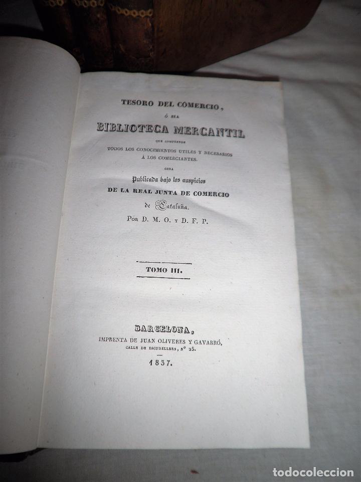 Libros antiguos: TESORO DEL COMERCIO - AÑO 1837 - COMERCIO MUNDIAL·EN PIEL. - Foto 3 - 71248379