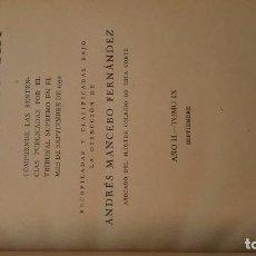 Libros antiguos: DICCIONARIO DE JURISPRUDENCIA. ANDRÉS MANCEBO. SENTENCIAS SEPTIEMBRE DE 1930.. Lote 72856571