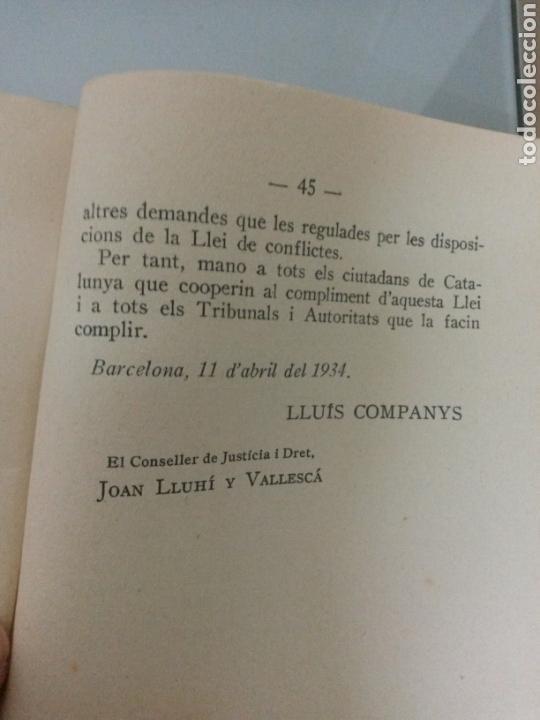 Libros antiguos: LLEI DE CONTRACTES DE CONREU 1934 FIRMA LLUIS COMPANYS - Foto 3 - 73606261
