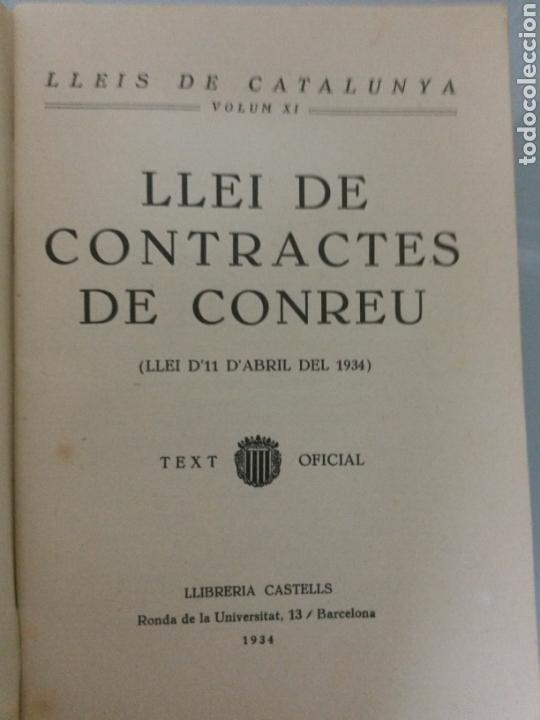 Libros antiguos: LLEI DE CONTRACTES DE CONREU 1934 FIRMA LLUIS COMPANYS - Foto 4 - 73606261