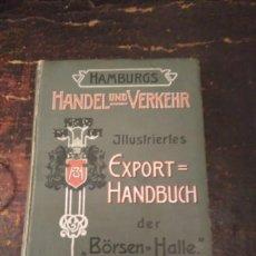 Libros antiguos: CATALOGO EXPORTADORES HAMBURG, 1905-07. TOMO III. ILLUSTRIERTER EXPORT-HANDBUCH DER BÖRSEN-HALLE. Lote 73712051