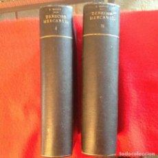 Libros antiguos: MANUAL DE DERECHO MERCANTIL, DE L. BENITO, 2 TOMOS, 777 + 890 PÁGINAS, EN PASTA DURA.. Lote 73755503