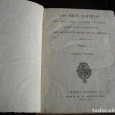 Libros antiguos: 1807 LAS SIETE PARTIDAS DE DON ALFONSO EL SABIO TOMO I DE III IMPRENTA REAL. Lote 73944211