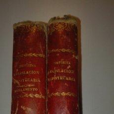 Libros antiguos: DOS TOMOS NOVISIMA LEGISLACION HIPOTECARIA DE LA PENINSULA1890. Lote 74989301