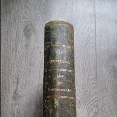 Libros antiguos: LEY HIPOTECARIA LEY MATRIMONIO REGISTRO CIVIL REGLAMENTO GENERAL EJECUCIÓN - 1870. Lote 75886295