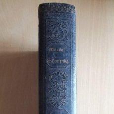 Libros antiguos: LIBRO MANUAL DE HACIENDA. MADRID 1841. TOMO I Y II. Lote 75909079