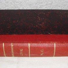 Libros antiguos: LEY DE ENJUICIAMIENTO CIVIL. RAFAEL ATARD Y SERAFIN CERVELLERA. 1881.. Lote 76532359