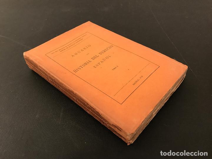 ANUARIO DE HISTORIA DEL DERECHO ESPAN?OL. TOMO II. 1925 (Libros Antiguos, Raros y Curiosos - Ciencias, Manuales y Oficios - Derecho, Economía y Comercio)