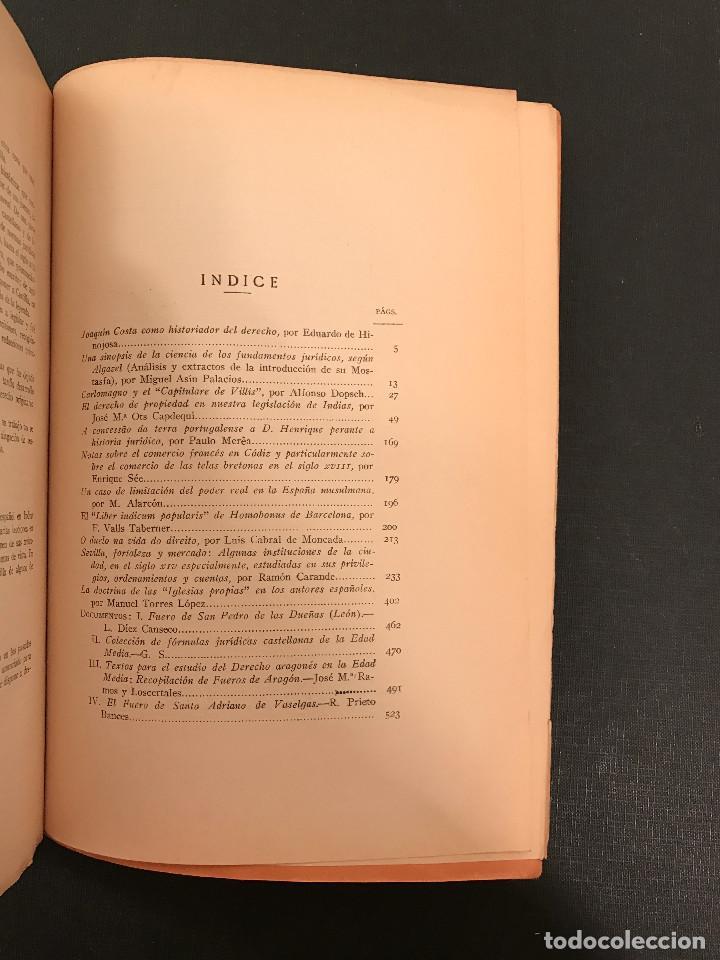 Libros antiguos: ANUARIO de HISTORIA del DERECHO ESPAN?OL. Tomo II. 1925 - Foto 3 - 77422969