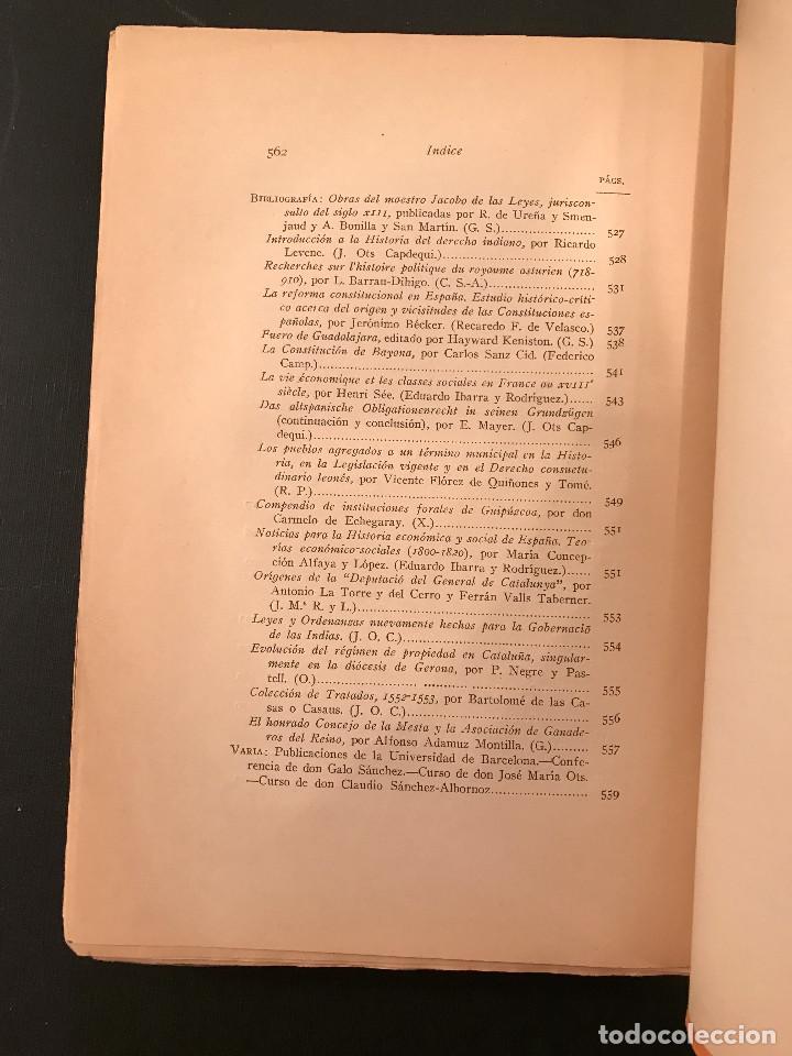 Libros antiguos: ANUARIO de HISTORIA del DERECHO ESPAN?OL. Tomo II. 1925 - Foto 4 - 77422969