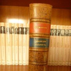 Libros antiguos: MANUAL DE DERECHO POLÍTICO. CARLOS RUIZ DEL CASTILLO Y CATALÁN DE OCÓN. 1939. Lote 77642945