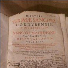 Libros antiguos: DERECHO MATRIMONIAL EN LATIN 1687. Lote 68792953