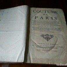 Libros antiguos: COUTUME DE PARIS. PIERRE LE MAISTRE (1741). Lote 77926473