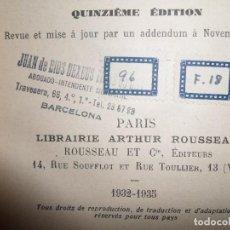 Libros antiguos: DROIT INTERNATIONAL PUBLIC--FOIGNET-DUPONT-1935---ROUSSEAU-PERTENECIO A L BUFETE-JUAN DE DIOS DEXEUS. Lote 78088817