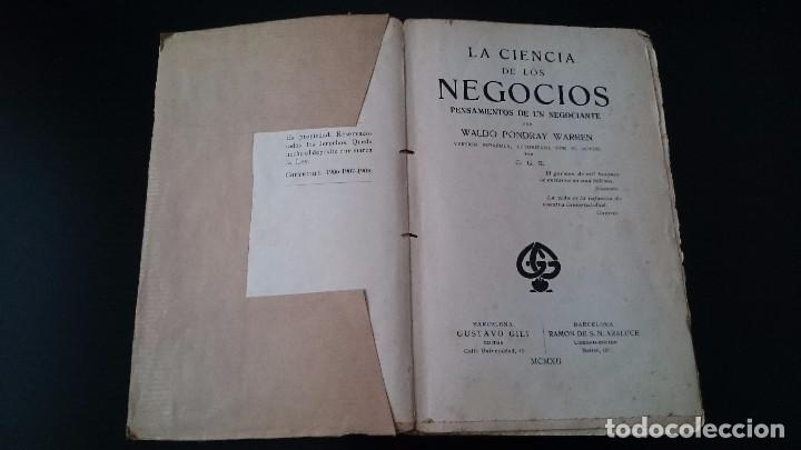 Libros antiguos: LA CIENCIA DE LOS NEGOCIOS - PONDRAY WARREN _ GUSTAVO GILI EDITOR BARCELONA 1912 - Foto 2 - 79638445