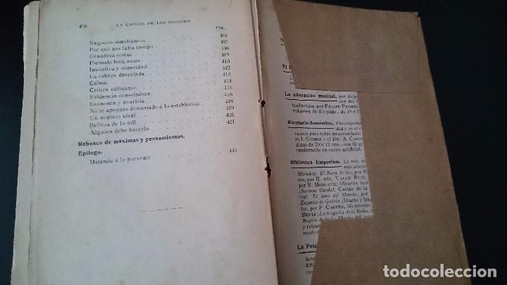 Libros antiguos: LA CIENCIA DE LOS NEGOCIOS - PONDRAY WARREN _ GUSTAVO GILI EDITOR BARCELONA 1912 - Foto 8 - 79638445
