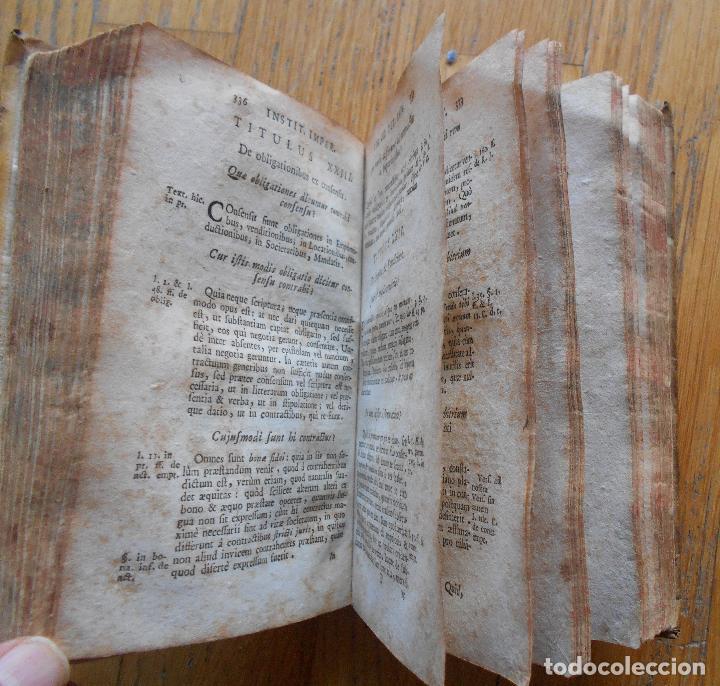 Libros antiguos: ANTONII PEREZII INSTITUCIONES IMPERIALES, EROTEMATIBUS DISTINCTAE 1763 - Foto 2 - 79988557