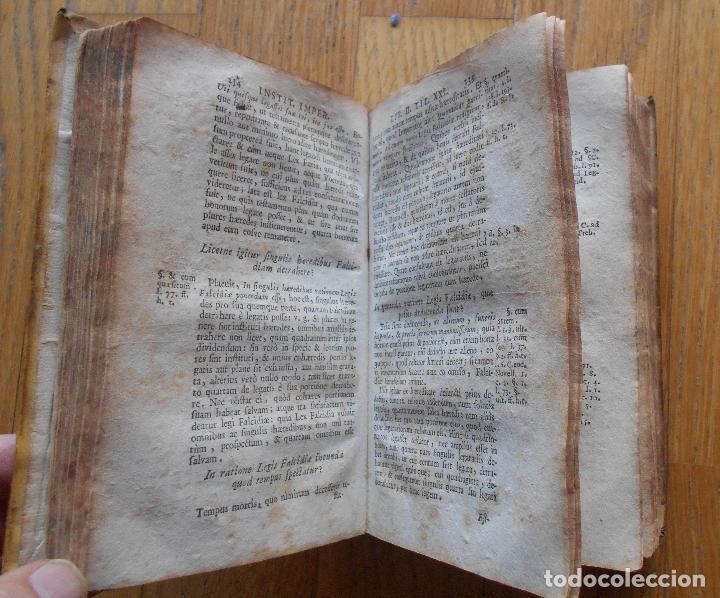 Libros antiguos: ANTONII PEREZII INSTITUCIONES IMPERIALES, EROTEMATIBUS DISTINCTAE 1763 - Foto 6 - 79988557
