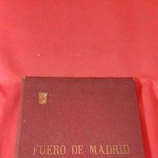 Libros antiguos: FUERO DE MADRID. 1932. Y LOS DERECHOS LOCALES CASTELLANOS.. Lote 80635070