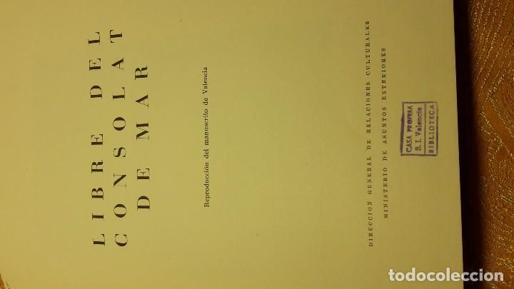 Libros antiguos: LIBRE DEL CONSOLAT DE MAR - Foto 4 - 80804127