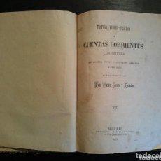 Libros antiguos: LIBRO CUENTAS CORRIENTES AÑO 1887. Lote 81563608
