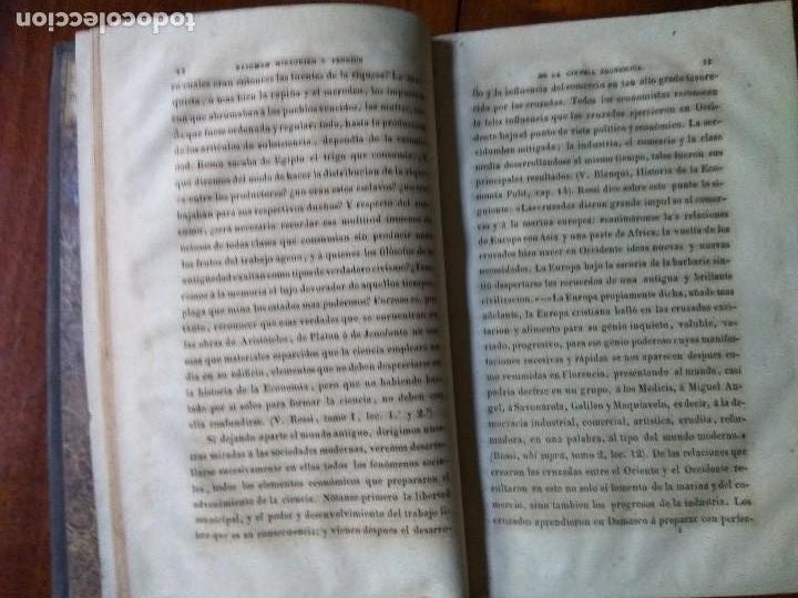 Libros antiguos: Resúmen histórico y teórico de la Ciencia Económica. Traducido del francés. Dalloz (1850) - Foto 5 - 83488220