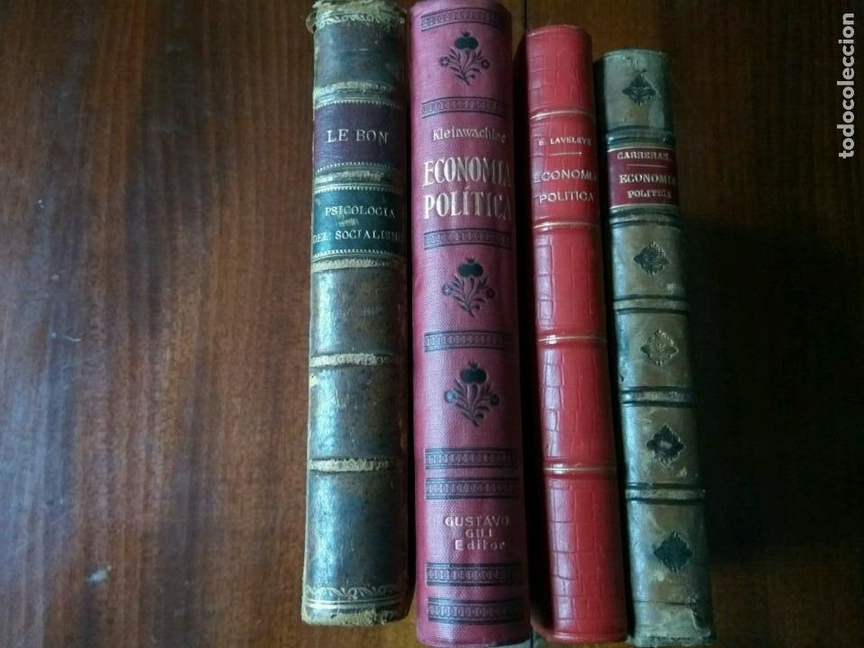 LOTE ECONOMÍA POLÍTICA (3 LIBROS) + PSICOLOGÍA DEL SOCIALISMO (Libros Antiguos, Raros y Curiosos - Ciencias, Manuales y Oficios - Derecho, Economía y Comercio)