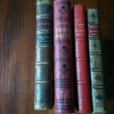 Libros antiguos: LOTE ECONOMÍA POLÍTICA (3 LIBROS) + PSICOLOGÍA DEL SOCIALISMO. Lote 83489580
