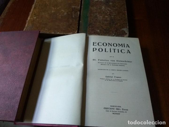 Libros antiguos: Lote Economía Política (3 libros) + Psicología del socialismo - Foto 5 - 83489580