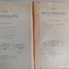 Libros antiguos: CURSO DE DERECHO MERCANTIL. LOTE DE DOS CUADERNOS POR F.ALVAREZ DEL MANZANO Y ÁLVAREZ-RIVERA. Lote 83932256