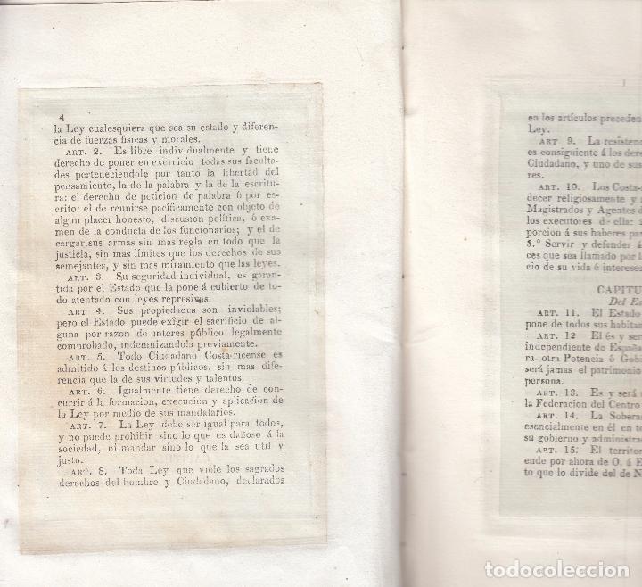 Libros antiguos: COSTA RICA. Ley Fundamental del Estado Libre de---. San Salvador, 1826. 1ª ed. Muy raro. - Foto 4 - 35225011