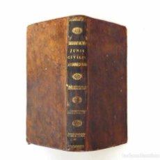 Libros antiguos: 1807 - DERECHO - LATÍN - NOVA ET METHODICA INSTITUTIONUM JURIS CIVILIS TRACTATIO - DERECHO CIVIL. Lote 84319684