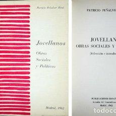 Libros antiguos: JOVELLANOS, GASPAR MELCHOR DE (1744-1811). OBRAS SOCIALES Y POLÍTICAS. 1962.. Lote 86260852