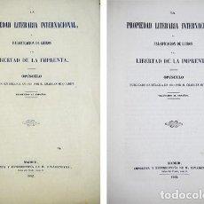 Libros antiguos: MUQUARDT, CHARLES. LA PROPIEDAD LITERARIA INTERNACIONAL, LA FALSIFICACIÓN DE LIBROS... 1852.. Lote 86261492