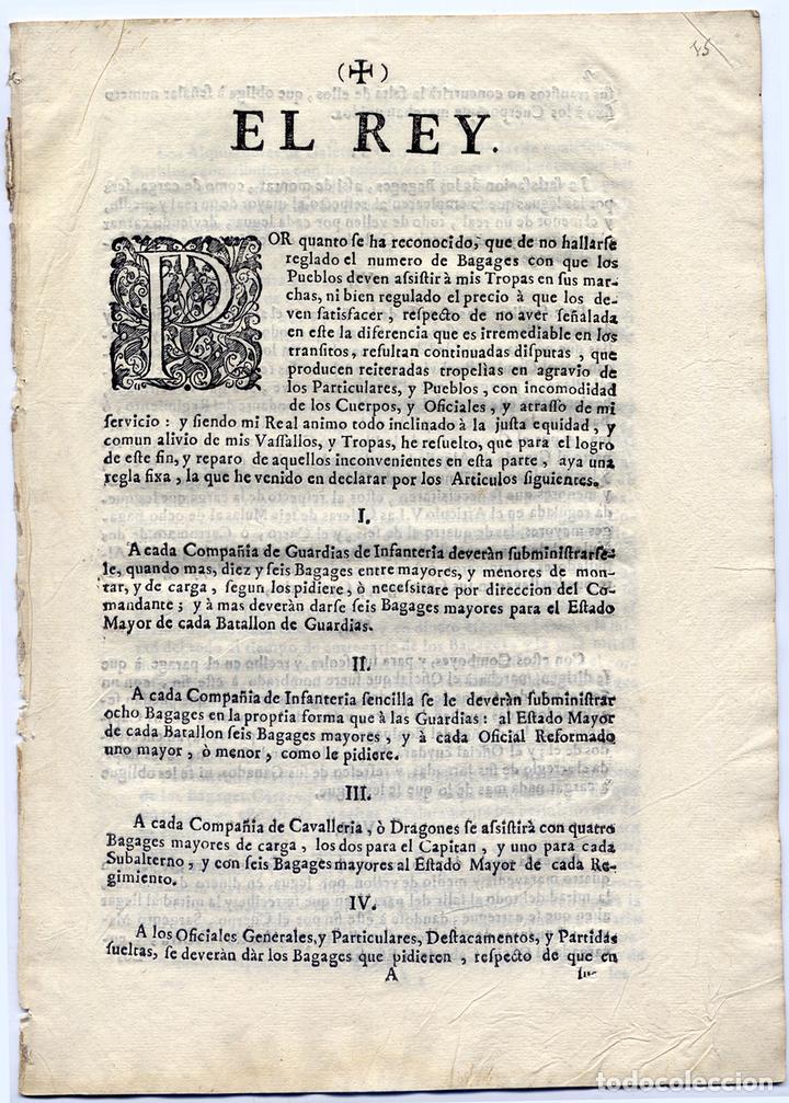 REAL ORDENANZA. EL REY. POR QUANTO SE HA RECONOCIDO, QUE DE NO HALLARSE REGLADO EL NUMERO... 1740. (Libros Antiguos, Raros y Curiosos - Ciencias, Manuales y Oficios - Derecho, Economía y Comercio)