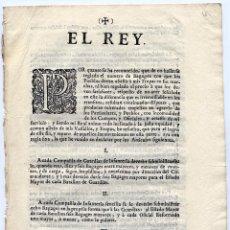 Libros antiguos: REAL ORDENANZA. EL REY. POR QUANTO SE HA RECONOCIDO, QUE DE NO HALLARSE REGLADO EL NUMERO... 1740.. Lote 86261856