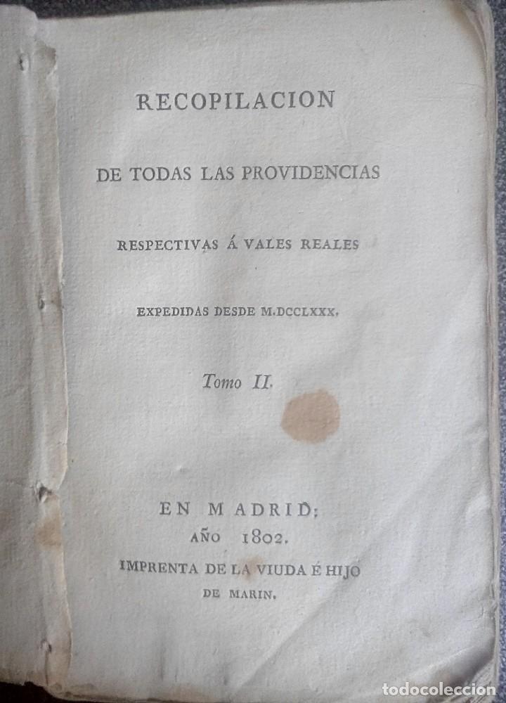 Libros antiguos: 1802 - Recopilación de providencias relativas a vales reales - deuda, desamortización, papel moneda - Foto 4 - 86486136