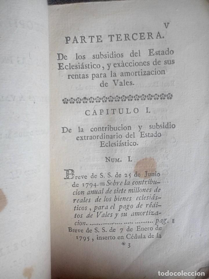 Libros antiguos: 1802 - Recopilación de providencias relativas a vales reales - deuda, desamortización, papel moneda - Foto 5 - 86486136
