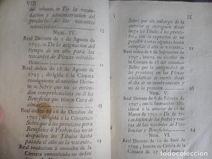 Libros antiguos: 1802 - Recopilación de providencias relativas a vales reales - deuda, desamortización, papel moneda - Foto 7 - 86486136
