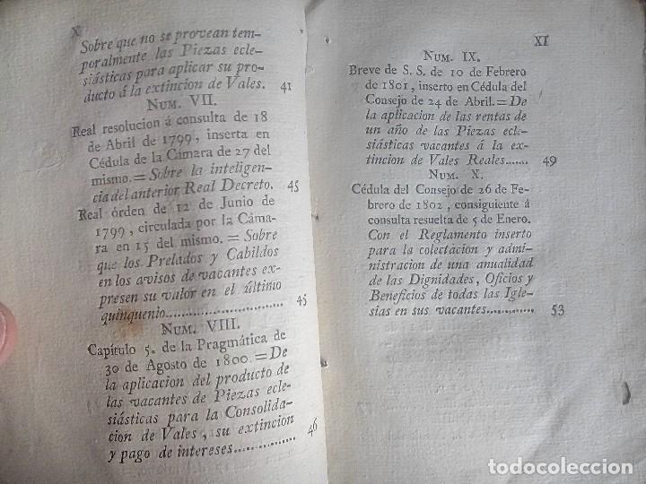 Libros antiguos: 1802 - Recopilación de providencias relativas a vales reales - deuda, desamortización, papel moneda - Foto 8 - 86486136