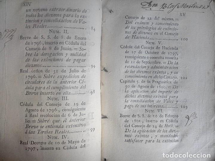 Libros antiguos: 1802 - Recopilación de providencias relativas a vales reales - deuda, desamortización, papel moneda - Foto 10 - 86486136