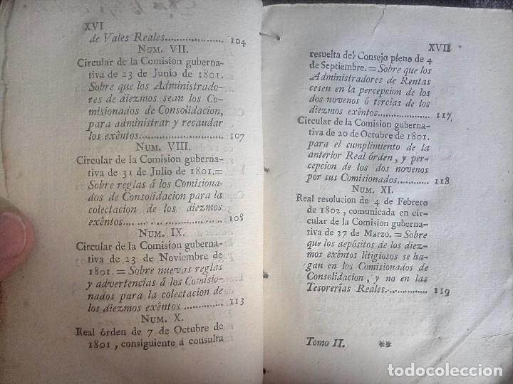 Libros antiguos: 1802 - Recopilación de providencias relativas a vales reales - deuda, desamortización, papel moneda - Foto 11 - 86486136