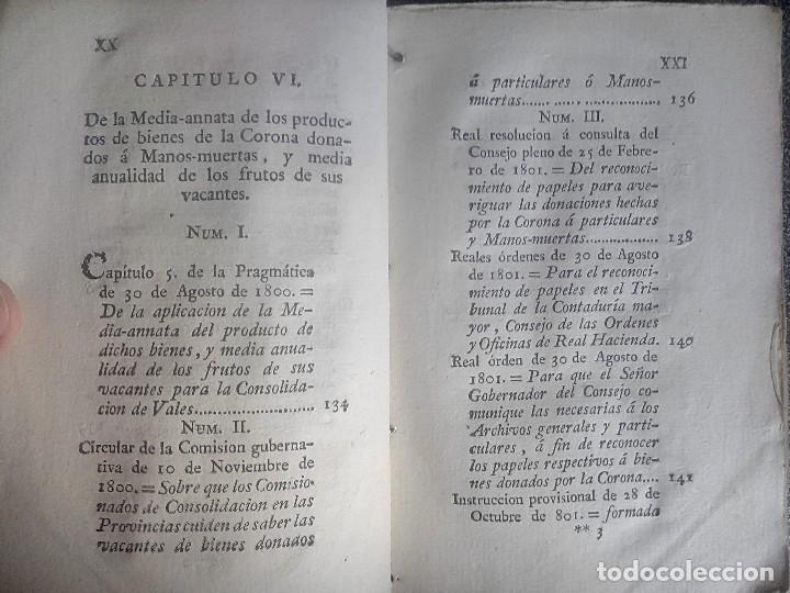 Libros antiguos: 1802 - Recopilación de providencias relativas a vales reales - deuda, desamortización, papel moneda - Foto 13 - 86486136